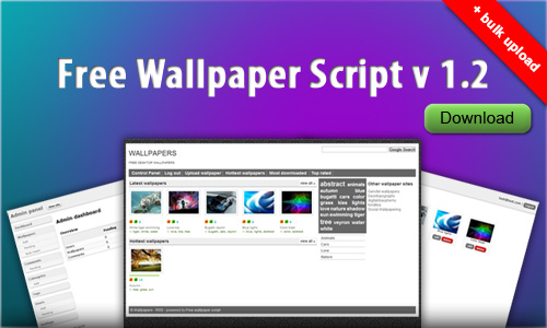 Wallpaper site front page. Each wallpaper can be rated up or down by site visitors.