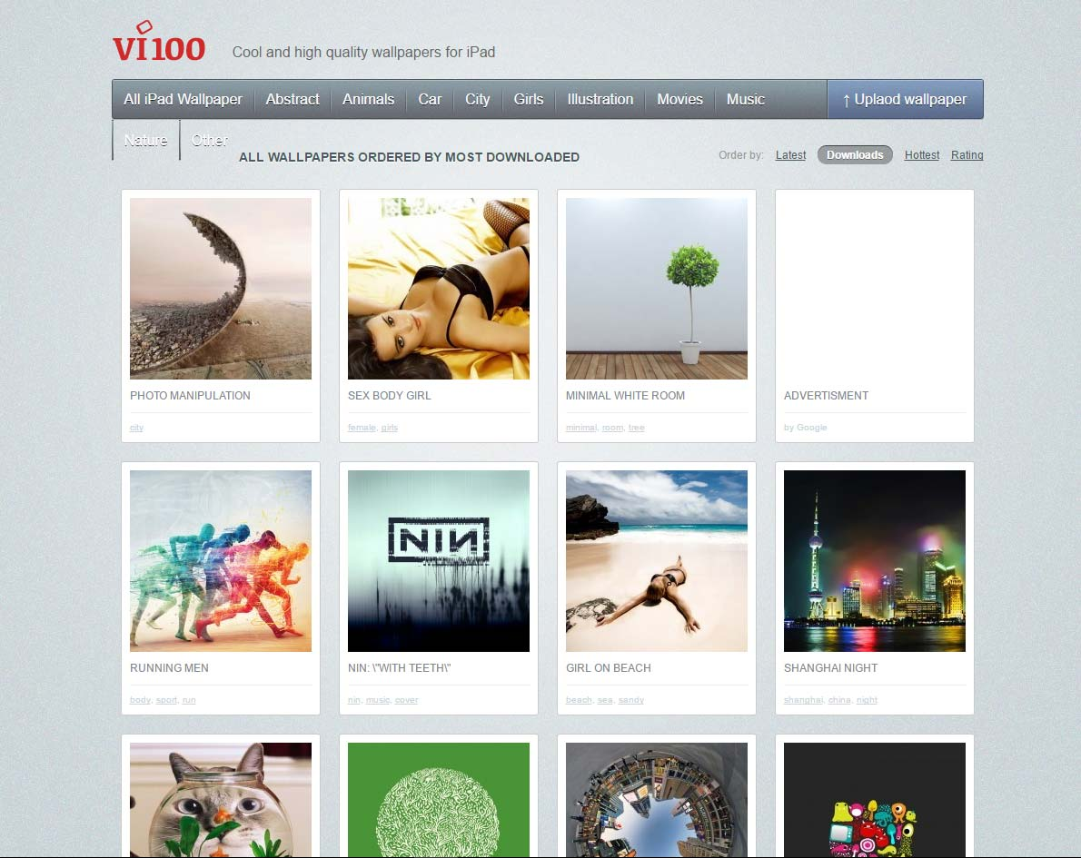 vi100.com - Cool and high quality wallpapers for iPad